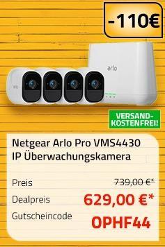 Netgear Arlo Pro Smart Home 4 HD-Kamera Sicherheitssystem (VMS4430)
