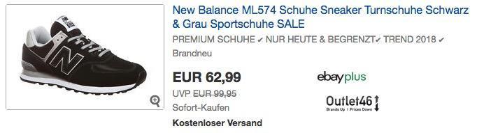 New Balance ML574 Herren Sneaker in Schwarz, Grau oder Schwarz/Rot
