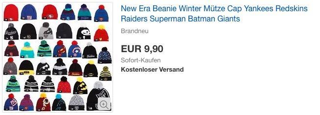 New Era Beanie Wintermütze, verschiedene Modelle (Yankees, Redskins, Superman u.v.m.)