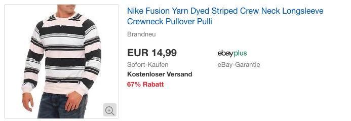 NIKE Fusion Yarn Dyed Striped Herren Pullover