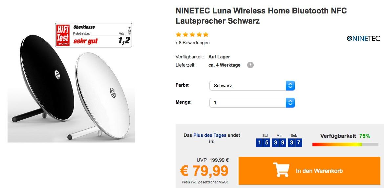 NINETEC Luna Bluetooth-Lautsprecher
