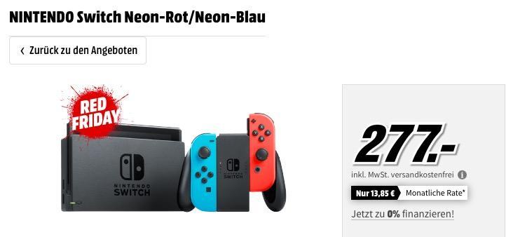 NINTENDO Switch Neon-Rot/Neon-Blau Spielkonsole