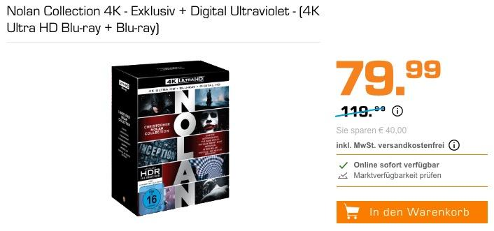 Nolan Collection 4K - Exklusiv Digital Ultraviolet - (4K Ultra HD Blu-ray + Blu-ray)