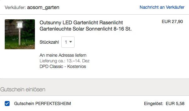 Outsunny LED Solar-Gartenlicht  aus Edelstahl