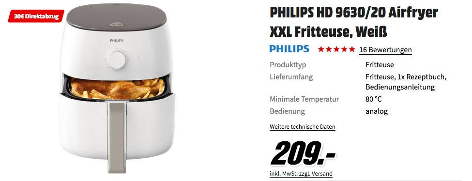 PHILIPS HD 9630/20 Airfryer XXL Fritteuse