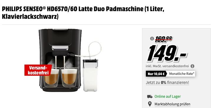 PHILIPS SENSEO® HD6570/60 Latte Duo Padmaschine