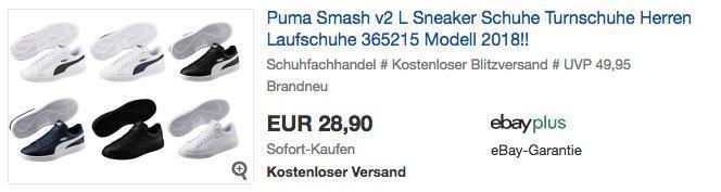 Puma Smash v2 L Herren Sneaker in verschiedenen Größen und Farben