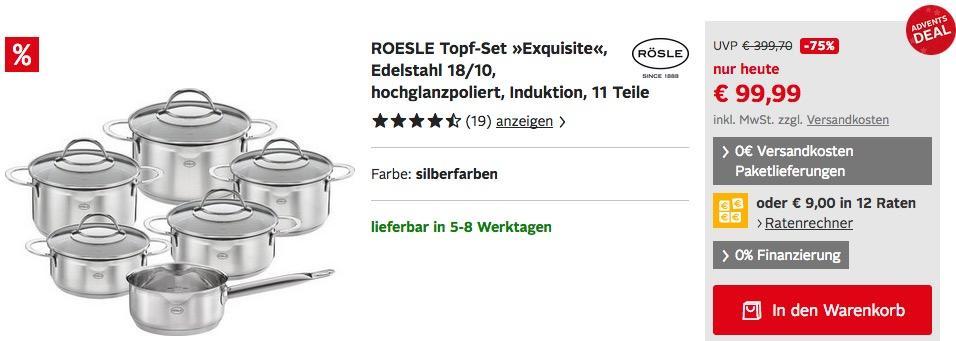 "RÖSLE Topf-Set ""Exquisite"" 11Teile"