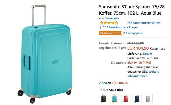 Samsonite S'Cure Spinner 102 L Koffer