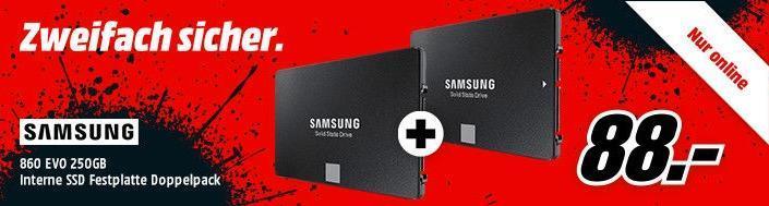 SAMSUNG 860 EVO Basic 250 GB interne SSD-Festplatte Doppelpack