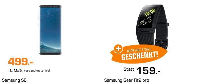 SAMSUNG Galaxy S8 Smartphone + SAMSUNG Gear Fit2 Pro Smartwatch - jetzt 18% billiger