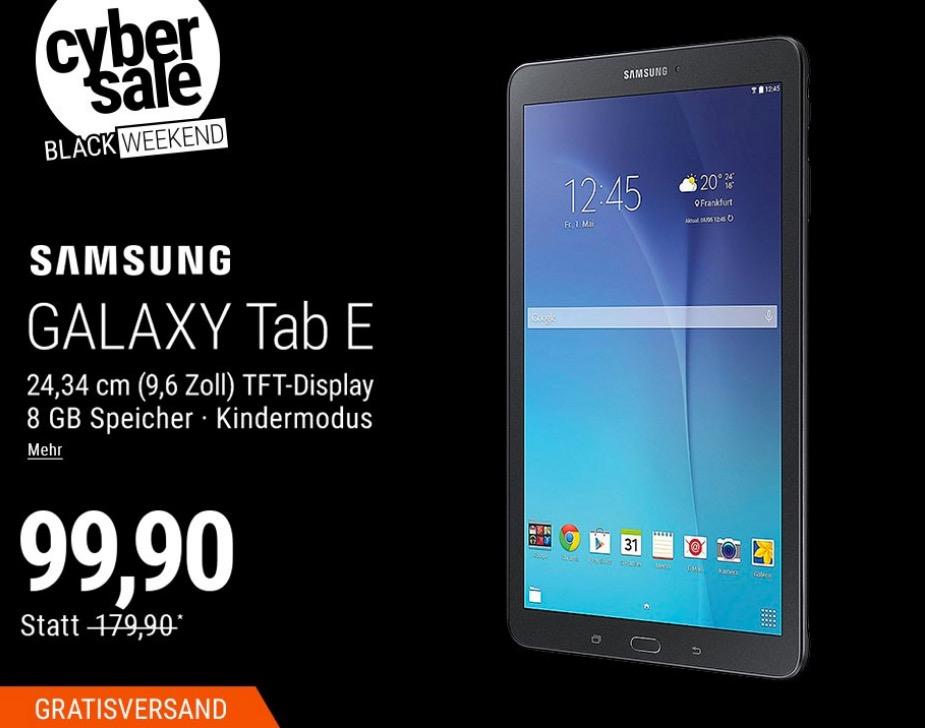 Samsung GALAXY Tab E T561N9,6 Zoll Tablet (3G, 8 GB, schwarz) - jetzt 38% billiger