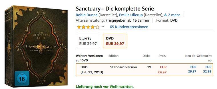 Sanctuary - Wächter der Kreaturen - Die komplette Serie(DVD)