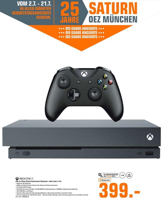 SATURN München OEZ: MICROSOFT Xbox One X 1TB Standard Edition