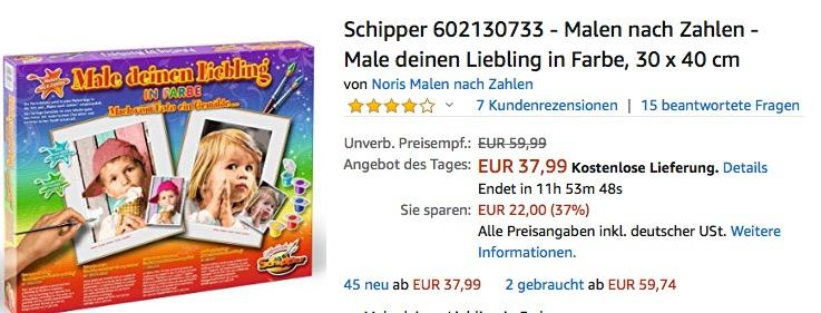 Schipper 602130733 - Malen nach Zahlen - Male deinen Liebling in Farbe, 30x40 cm