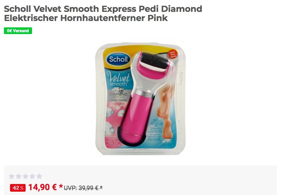 Scholl Velvet Smooth Express Pedi Diamond Elektrischer Hornhautentferner