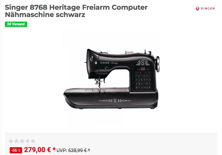 Singer 8768 Heritage Freiarm Computer Nähmaschine