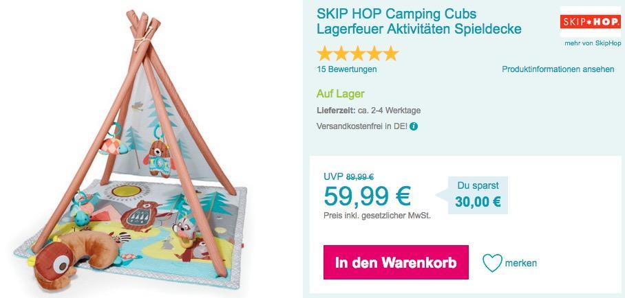 SKIP HOP Camping Cubs Lagerfeuer Aktivitäten - Spieldecke