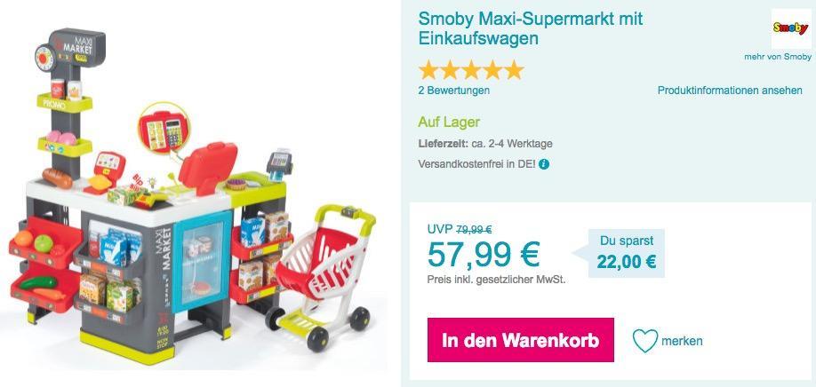 Smoby Maxi-Supermarkt Spielzeug mit Einkaufswagen