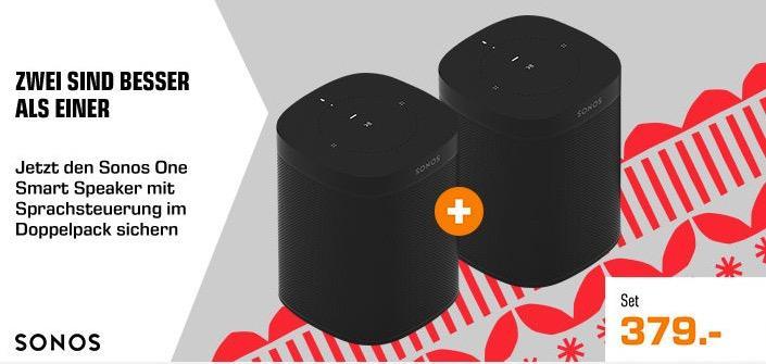 SONOS One Doppelpack - Smart Speaker mit Sprachsteuerung - jetzt 10% billiger