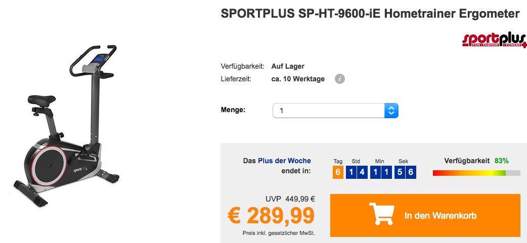 SPORTPLUS SP-HT-9600-iE Hometrainer Ergometer mit App-Steuerung, Google Street View