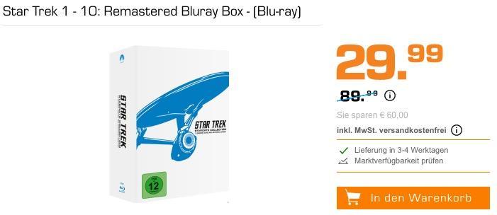 Star Trek 1 - 10: Remastered Bluray Box - (Blu-ray)