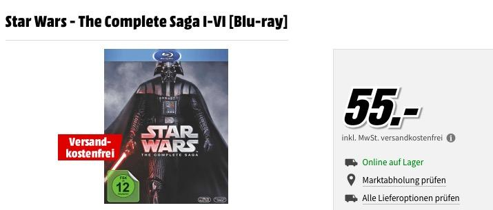 Star Wars - The Complete Saga I-VI [Blu-ray]