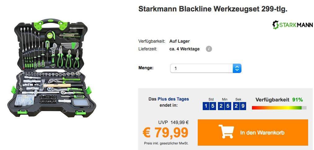 Starkmann Blackline Werkzeugset 299-tlg. im Koffer