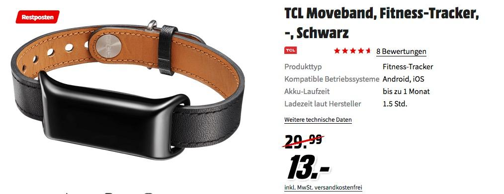 "TCL MB12-2DLCWE1 ""MOVEBAND"" Activity Tracker schwarz"