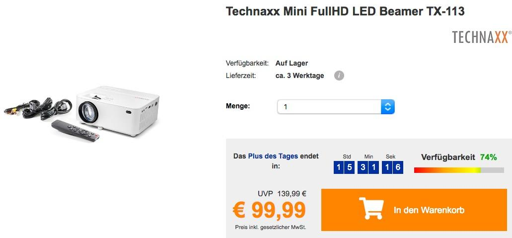 Technaxx Mini FullHD LED Beamer TX-113