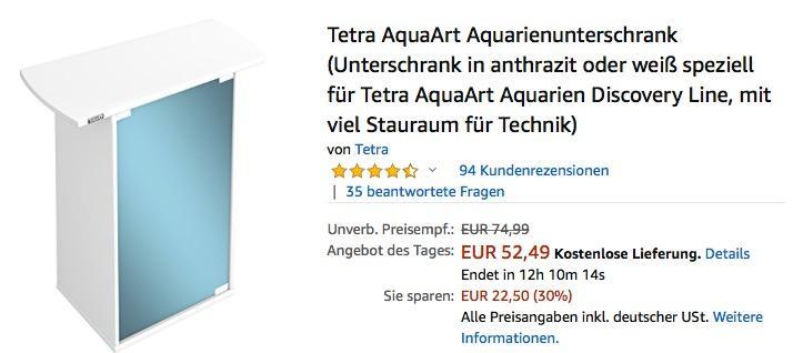 Tetra Aquarienunterschrank in Weiß  für 60 Liter Tetra AquaArt Aquarien