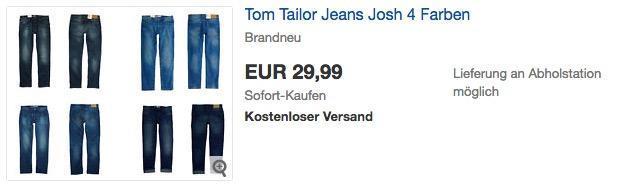 """Tom Tailor Herren Jeans """"Josh"""" in verschiedenen Farben"""