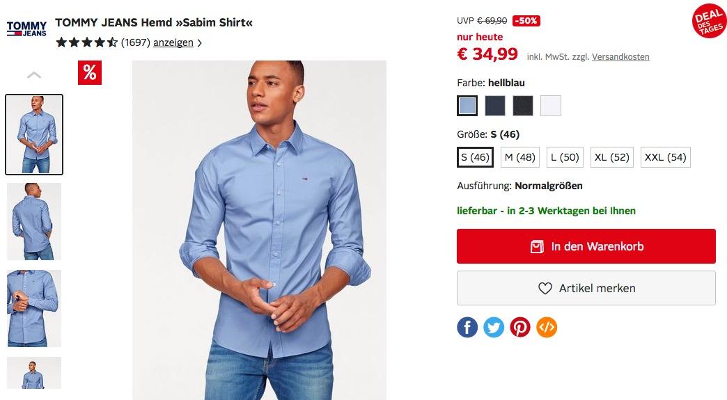 """TOMMY JEANS Hemd """"Sabim Shirt"""" in verschiedenen Farben"""