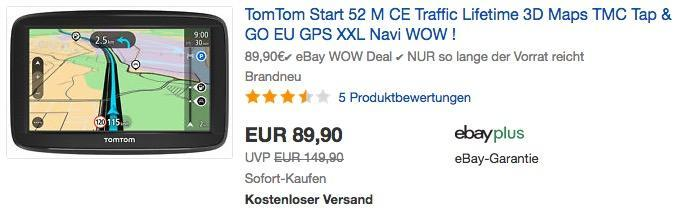 TomTom Start 52 M CE 5 Zoll Navigationsgerät