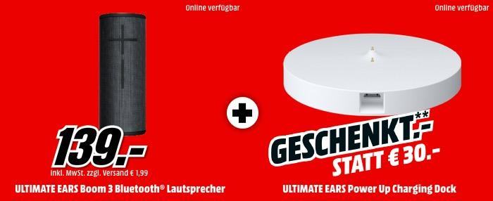 ULTIMATE EARS BOOM 3 Bluetooth Lautsprecher inkl. ULTIMATE EARS POWER UP Ladegerät