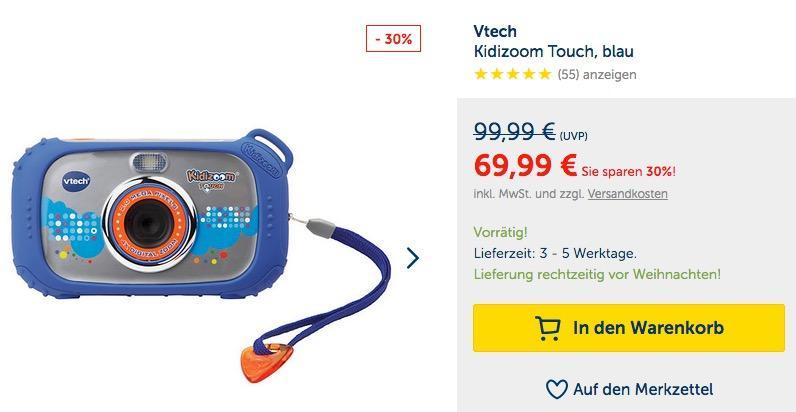 Vtech Kidizoom Touch Digitalkamera (80-145004)