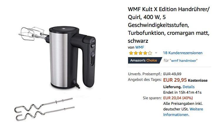 WMF Kult X Edition Handrührer/ Quirl 400 W