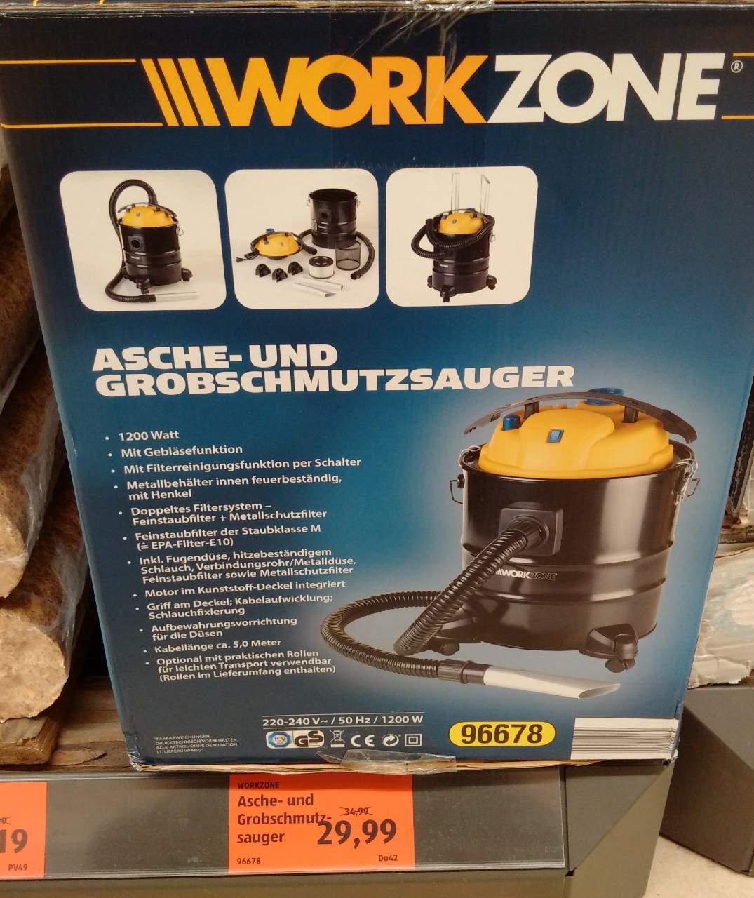 WORKZONE Aschen- und Grobschmutzsauger
