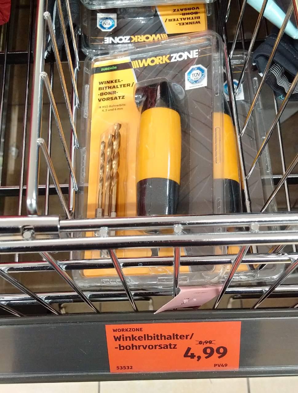 WORKZONE Winkel-Bithalter/-Bohrvorsatz