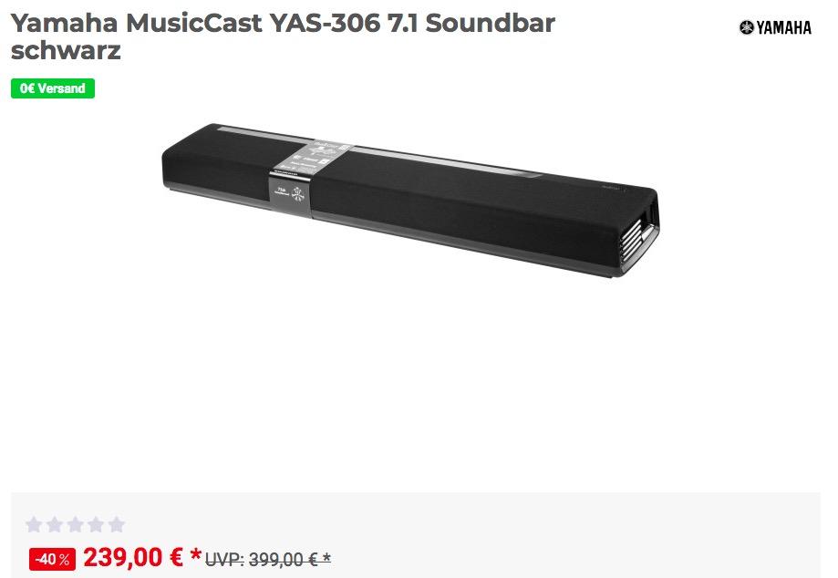 Yamaha MusicCast YAS-306 7.1 Soundbar