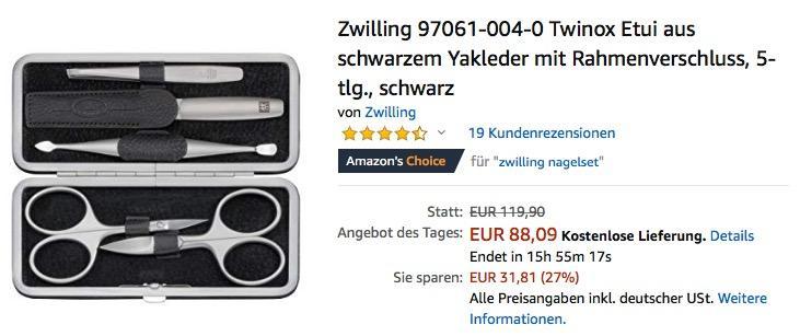 Zwilling 97061-004-0 Twinox 5-teiliges Maniküre-Set