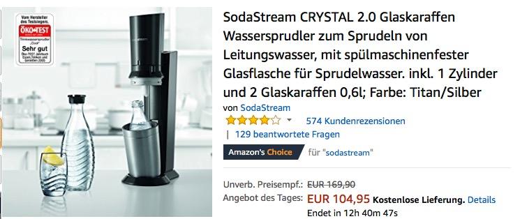 Sodastream Crystal 2 0 Wassersprudler Inkl Fur 104 95 13