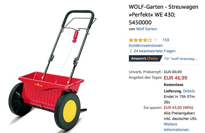 Wolf Garten Streuwagen Perfekt We 43 Für 4699 22